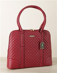 gifts: Burgundy Polo Small Quilt Slimline Briefcase!