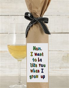 gifts: Be Like Mom Wine in Craft Paper!