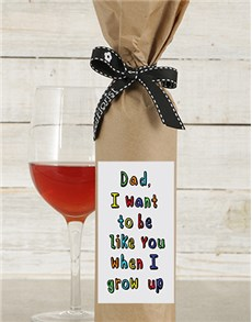 gifts: Be Like Dad Wine in Craft Paper!