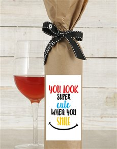 gifts: Cute When You Smile Wine in Craft Paper!