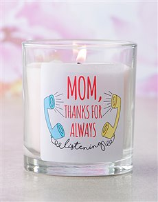 gifts: Pink Thanks For Always Listening Candle!