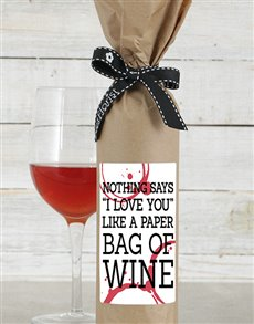 gifts: Paper Bag Wine in Craft Paper!