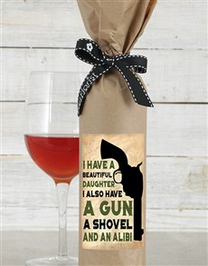gifts: Beautiful Daughter Wine in Craft Paper!