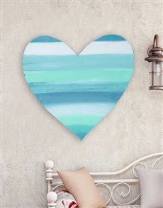 gifts: Calming Colours Wooden Heart!