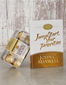 gifts: Jumpstart Your Priorities Book and Ferrero!