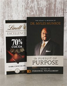 gifts: In Pursuit of Purpose Book and Lindt Slab!