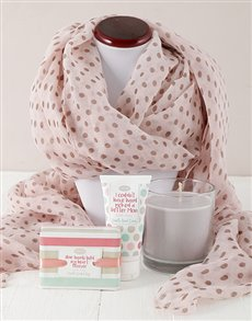 gifts: Moms Scarf and Pamper Gift!