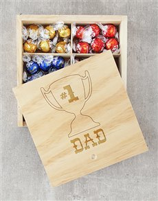 gifts: Number One Dad Lindt Tray!
