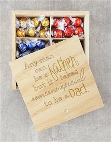 gifts: Special Dad Lindt Tray!