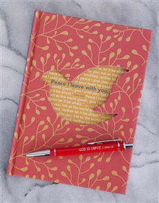 gifts: Peace Journal and Scribbler!