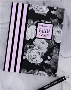 gifts: Faith Notebook and Pen Hamper!