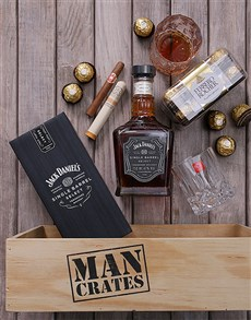 gifts: Jack Daniels and Cuban Cigar Man Crate!