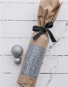 gifts: Fa La La Wine in Craft Paper!