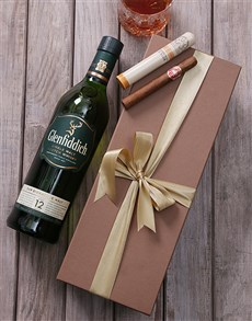 gifts: Glenffidich and Cuban Cigar Giftbox!