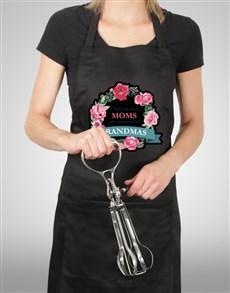 gifts: Floral Grandma Apron!