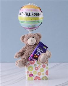 gifts: Get Well Teddy and Bubbly Box!