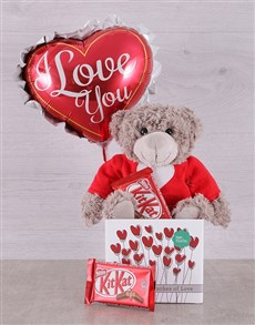 gifts: Love Teddy and Kit Kat Box!