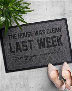 gifts: House Was Clean Doormat!