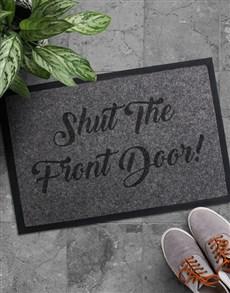 gifts: Shut The Front Door Doormat!