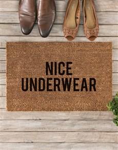 gifts: Nice Underwear Doormat!