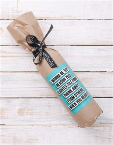 gifts: Romantic and Naughty Wine in Craft Paper!
