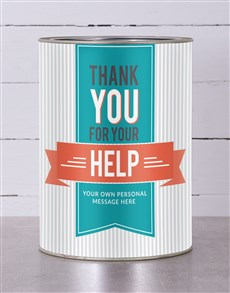 gifts: Thank You For Your Help Snack Tin!