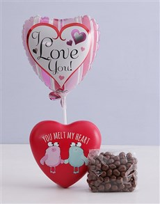 gifts: You Melt My Heart Chocolate Tin Hamper!