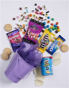 gifts: Purple Bucket of Sweet Treats!