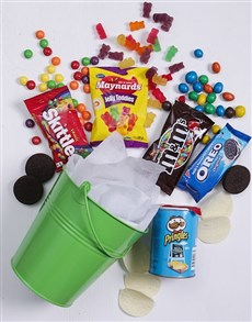 gifts: Green Bucket of Sweet Treats!
