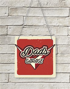 gifts: Dads Garage Metal Sign!
