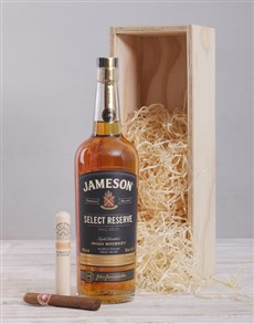 gifts: Jameson Select Reserve and Cuban Cigar Crate!
