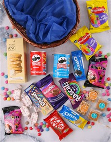 gifts: Round Basket of Sweet Treats!