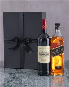 flowers: Wine and Whisky Duo Giftbox!
