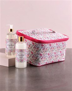 gifts: Large Pink Floral Vanity!