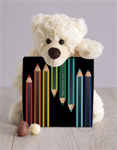 gifts: Teddy and Colour Chocolate Box!
