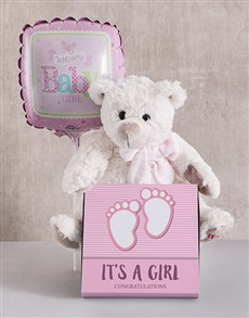 gifts: Baby Girl Teddy Bundle!
