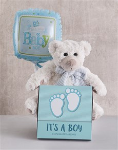 gifts: Baby Boy Teddy Bundle!
