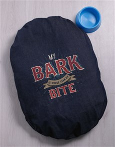 gifts: Bark Bite Denim Bed!