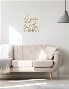 gifts: Enjoy The Little Things Wall Vinyl!