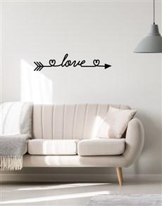 gifts: Love Arrow Wall Vinyl!