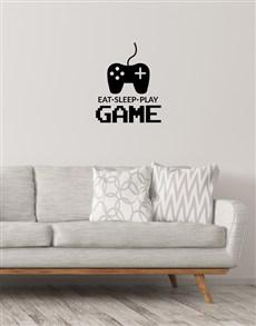 gifts: Eat Sleep Play Gamer Wall Vinyl!