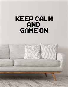 gifts: Keep Calm and Game On Wall Vinyl!