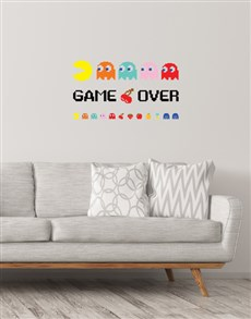 gifts: Packman Game Over Wall Vinyl!
