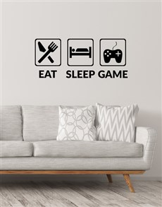 gifts: Eat Sleep Play Emoticon Wall Vinyl!