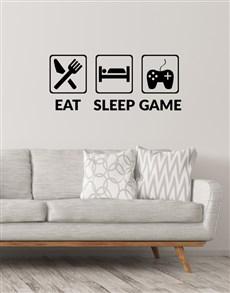 gifts: Eat Sleep Play Emoticon Wall Vinyl!