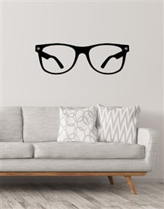 gifts: Glasses Wall Vinyl!