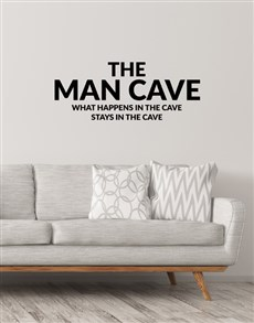 gifts: The Man Cave Wall Vinyl!