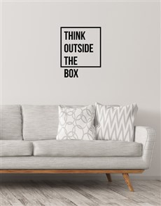 gifts: Think Outside The Box Wall Vinyl!