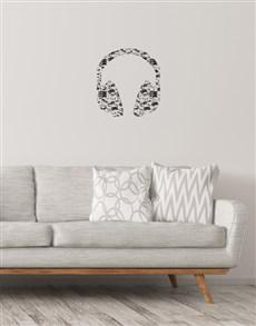 gifts: Head Phones Wall Vinyl!