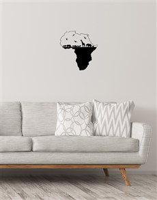 gifts: Africa Map Wall Vinyl!